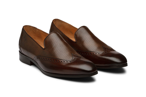 Tassel Loafer with Perforations