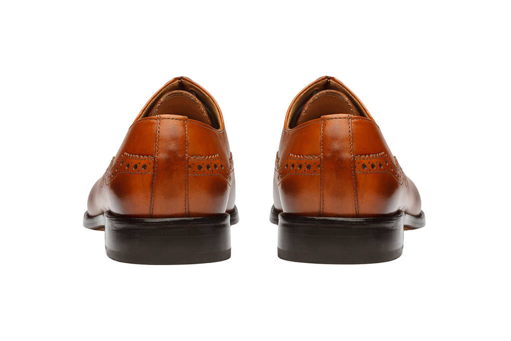 Brogue Oxford – Mid Brown