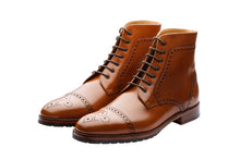 Load image into Gallery viewer, TOECAP BROGUE BOOTS  – TAN