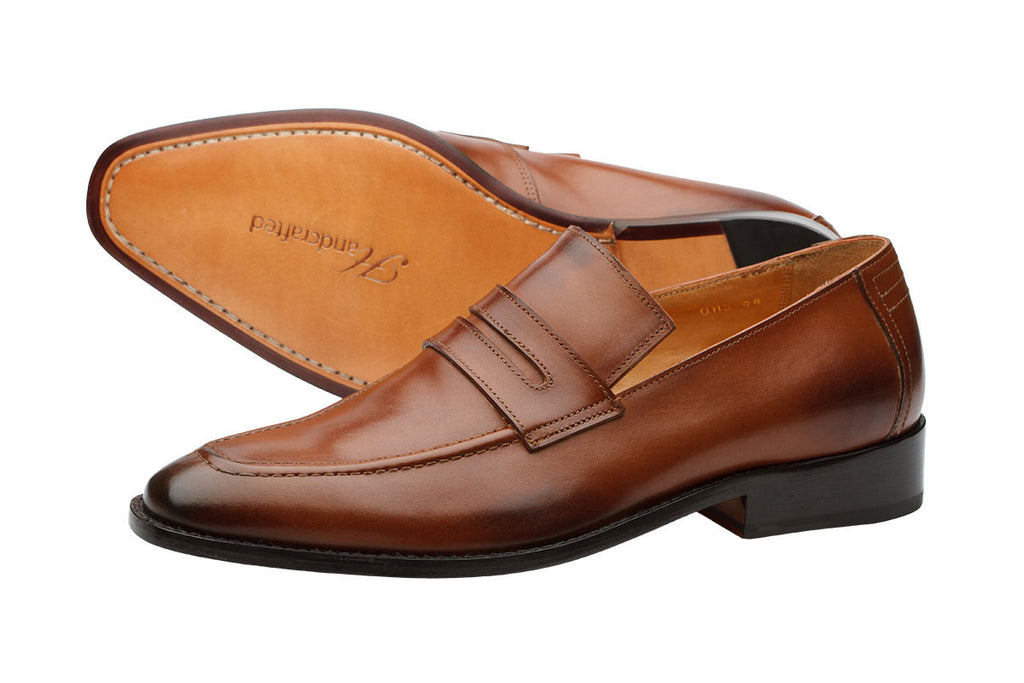 Penny Loafer –Orange Brown