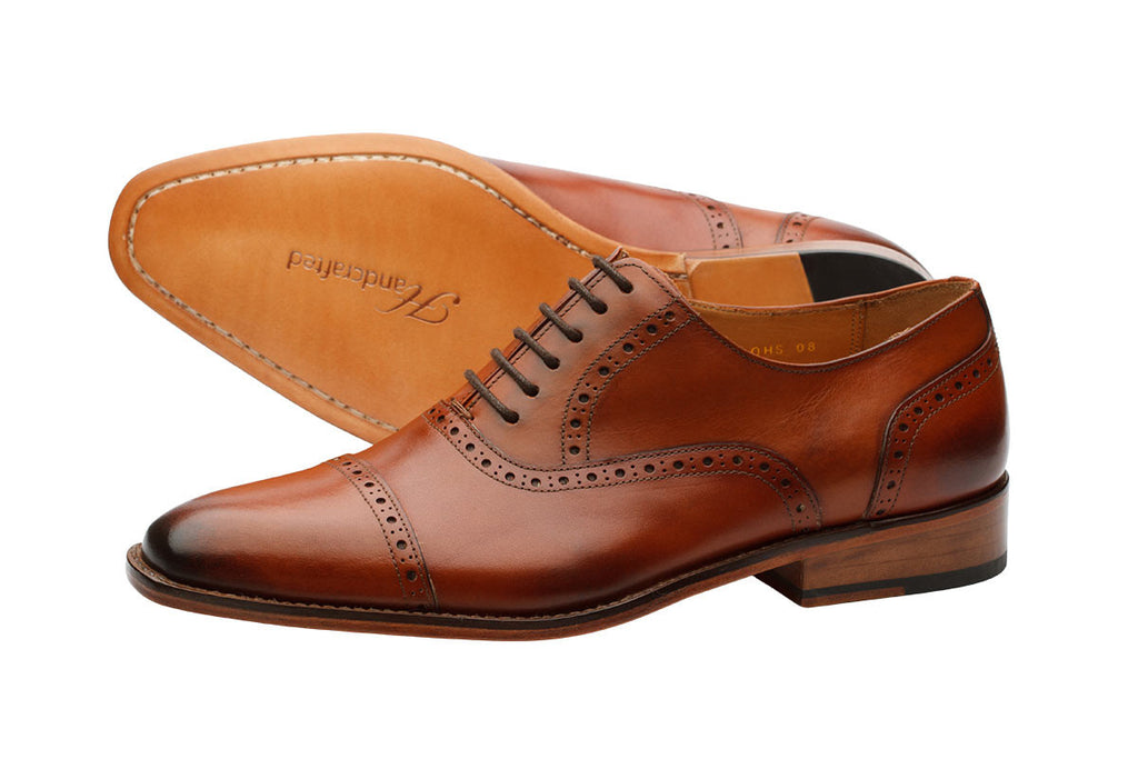 Toecap Brogue Oxford -Lab Tan