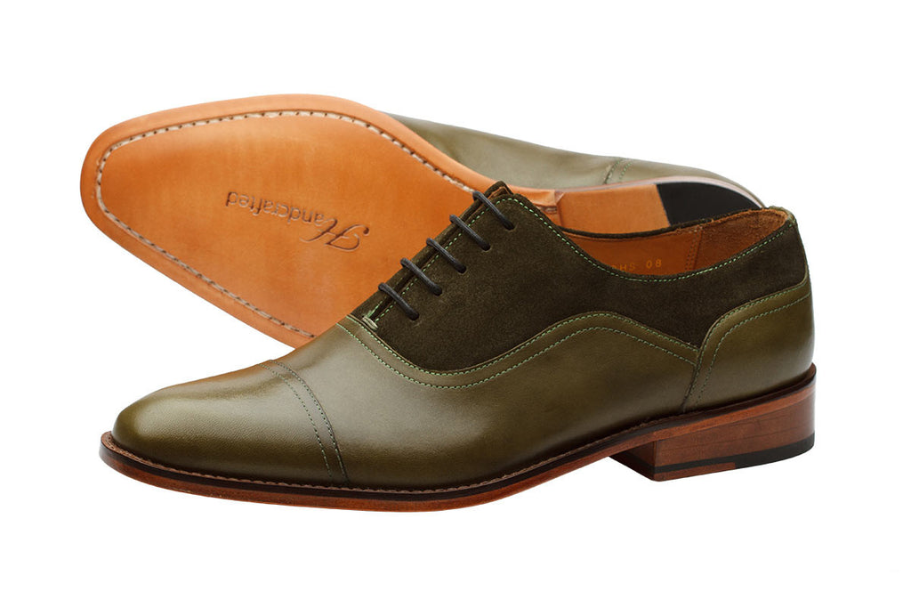 Toecap Oxford Combi – Olive Green
