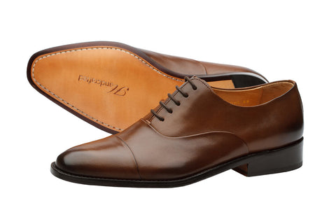 Toecap Oxford Pleated – Chocolate Brown