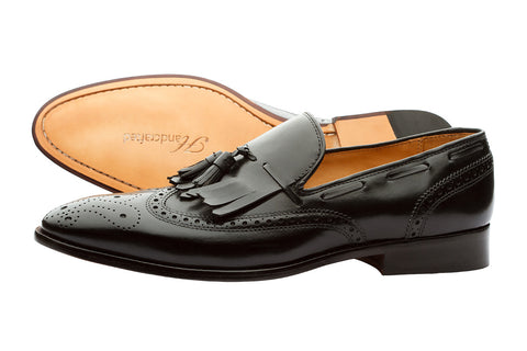 BROGUE WINGCAP KELTY LOAFERS- BLACK