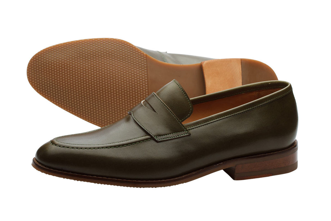 Penny Loafer- Olive Green