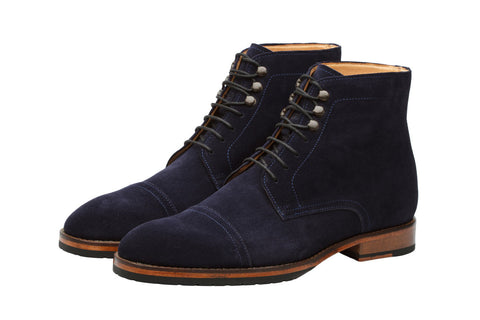 Suede Boots – Navy