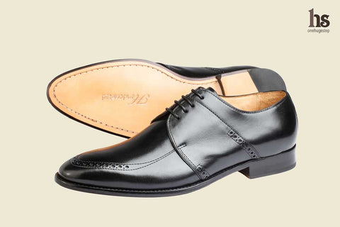 Brogue Saddle Derby – Black