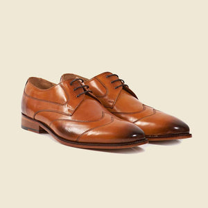 Double Toecap Derby -Cuoio