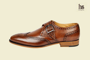 Single Strap Brogue Monk