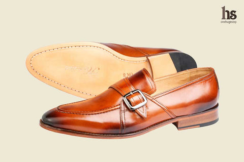 Slip On With Ornamental Strap And Buckle -Tan