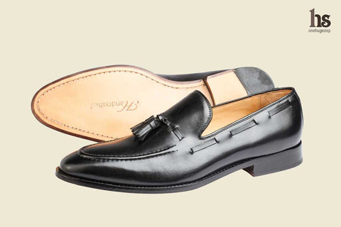 Tassel Loafer With Cord Stich On The Vamp- Black