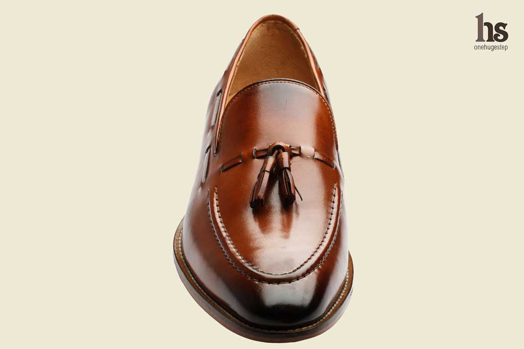 Tassel Loafer With Cord Stich On The Vamp- Tan