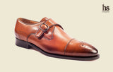 Toecap Derby Monk with perforations in Toecap