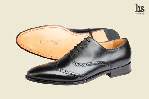 Wing Cap Brogue Oxford- Black