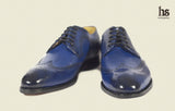 Wingtoe Derby Brogue with decoration punches on quarters