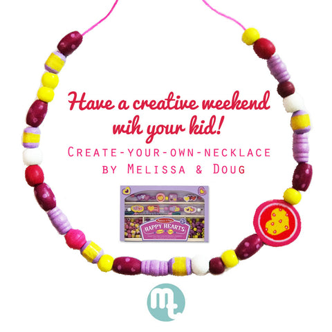 Melissa & Doug DIY Necklace from MommiesTots.com ! Enjoy fun time with your kids by making your own necklace & bracelet with the DIY KIT!