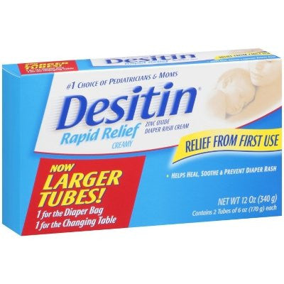 Desitin Creamy Rapid Relief (Two of 6oz Tubes)