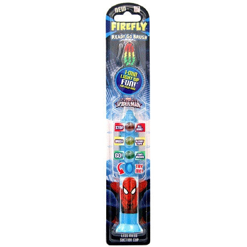 Firefly Kids! Ready Go Light-Up Timer Toothbrush, Spiderman