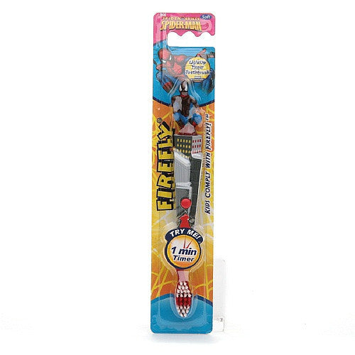 Firefly Kids! Spiderman Flashing Sculpted Toothbrush