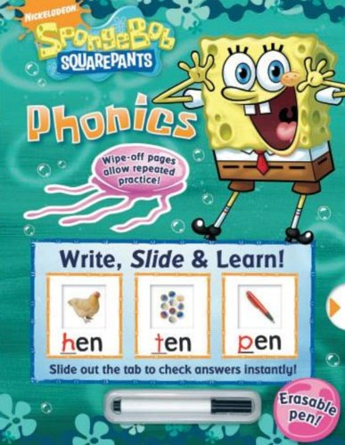 Your child will help SpongeBob find missing letters, solve puzzles and complete activities that will encourage development of essential reading and writing skills. They will learn letter sounds, blends, diagraphs, word families and more. Children can fill in the blanks with the included erasable pen on the write-and-slide pages and slide the tab to check their answers, then complete the fun activities that will help advance their skills. Ages 3+.