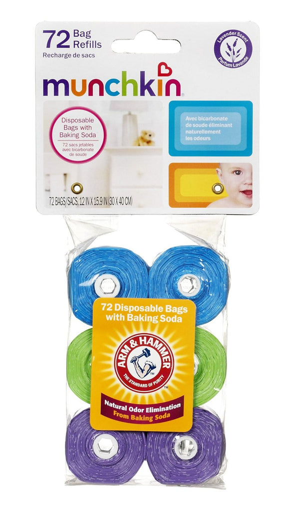 Arm & Hammer 72 Count Diaper Bag Refills (For Diaper Pail)