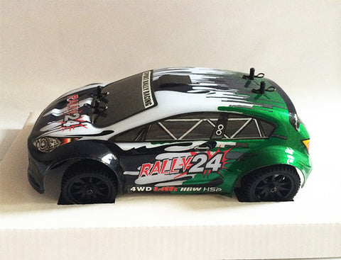HSP Remote Control Car - RALLY24 Green