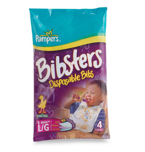 Pampers Bibsters  Disposable Bibs - 4 count pack