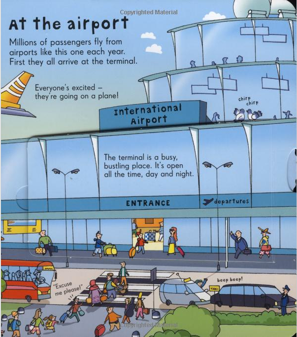 Usborne Look inside Board Books - Airport [Hardcover]