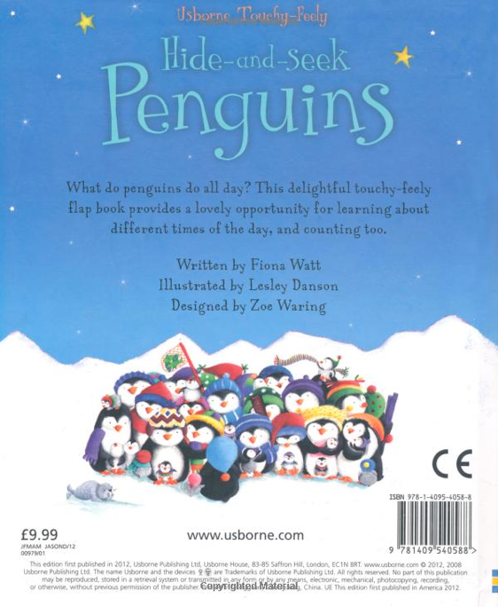 Usborne Hide & Seek Board Book - Penguine [Hardcover]