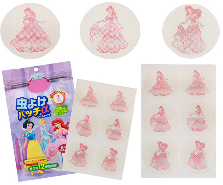 Disney Princess Summer Anti-Mosquito Patch - 24pcs [Made in Korea]