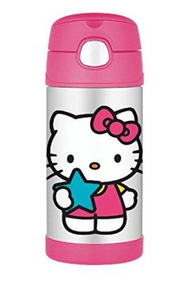 Thermos Stainless Steel Funtainer bottle - Hello Kitty Pink Limited