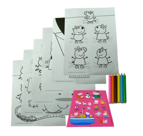 Peppa Pig Colouring Set [Various Types]