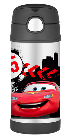 Thermos Stainless Steel Funtainer bottle - Disney Cars [NEW]