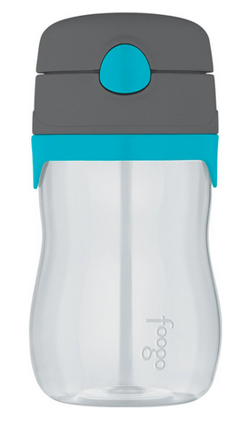Thermos Foogo Phases Straw Bottle, Charcoal/Teal [NEW]