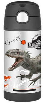 Thermos Stainless Steel Funtainer bottle - Jurrasic World [NEW]