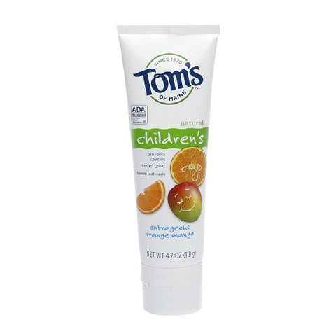 Tom's of Maine Children's Natural Fluoride Toothpaste, Outrageous Orange Mango