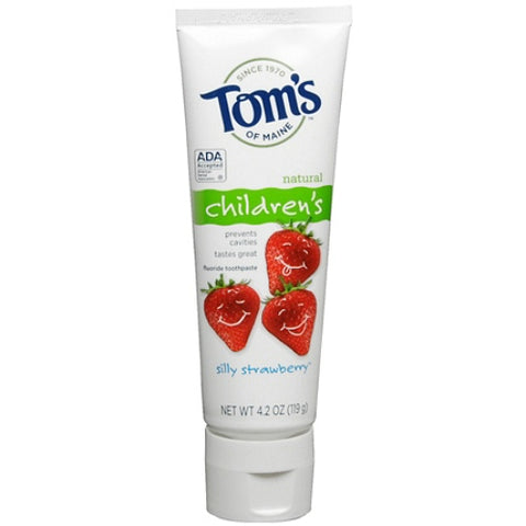 Tom's of Maine Children's Natural Fluoride Toothpaste, Silly Strawberry
