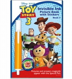 Toy Story 3 Invisible Ink Picture Book with Stickers and Pen