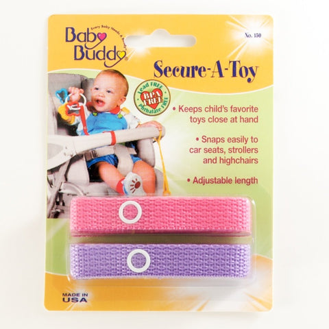 Baby Buddy 2 Pack Secure-A-Toy [more colours...]