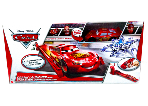 Disney Pixar CARS 2 by Mattel - Lighting McQueen Stunt Racer CARS with Crank Launcher Set