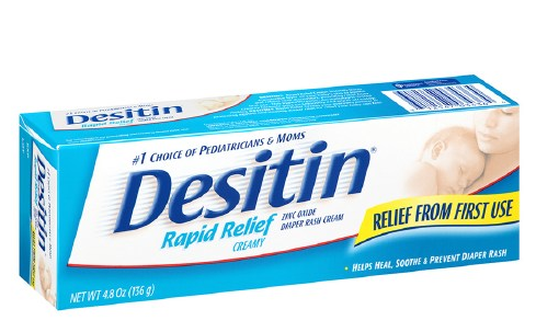 Desitin Rapid Relief Diaper Rash Ointment, Creamy (4.8oz)