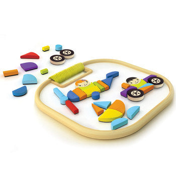 HAPE Magnectic Vehicles Playboard Set - From Germany