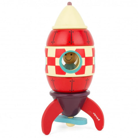 Janod Magnetic Kit Wooden Rocket