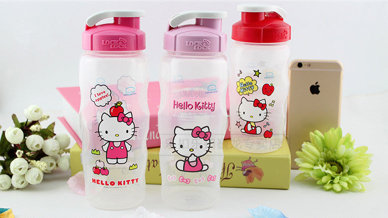 Lock n Lock Kids BPA Free Bottle - Hello Kitty (Red)