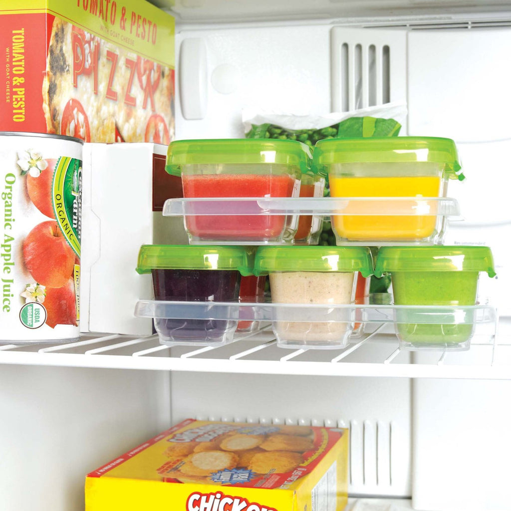 OXO Tot Baby Blocks Freezer Storage Containers, Clear (6 sets of 2oz)