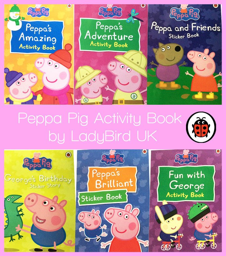Peppa Pig Activity & Stickers Books [Various Types]
