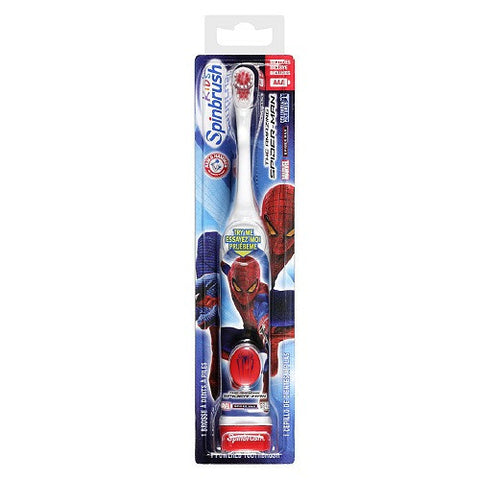 Arm & Hammer SpinBrush Kids Marvel Characters Powered Toothbrush, Spiderman