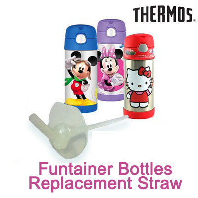 Thermos FUNtainer Stainless Steel Bottle Replacement Straw (For Model F-401)