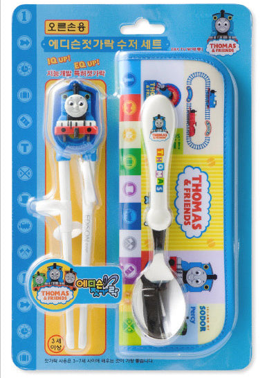 Edison Thomas and Friends chopstick and spoon set with pouch - Korea