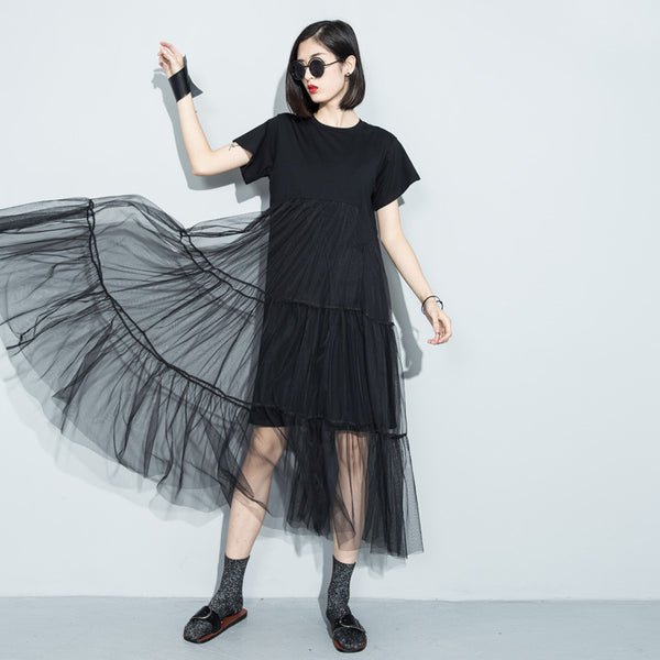 Splice Dress - Black, Default Title, , PINK IN TŌKYŌ  - 1